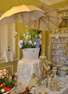 "Vintage Baby Shower Umbrellas for ""shower"""
