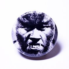 "Retro Pinback Halloween Button, Wolfman Classic Horror Monster Pin (1.25"" small pinback badge) by RADROACHSHOP on Etsy"