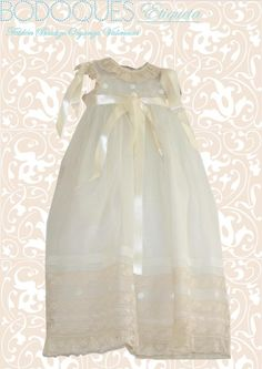 We are delighted to bring you our Christening Gown in Organza. Bonet, jacket and shoes available for cutest Baptism outfit.