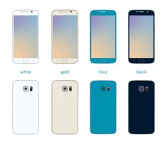 Flat Samsung Galaxy S6 Free Download. Front and back view of Samsung Galaxy S6 in flat design, and four colors. Resolution: 4000x4000px File format: PNG