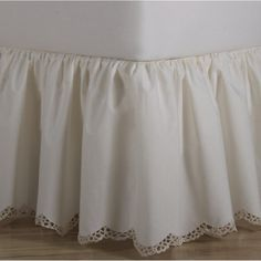 Crochet Edge Scalloped Cotton Bed Skirt - BED SKIRTS - BEDDING ACCESSORIES | ShopBedding.com