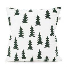 Fine Little Day Gran-tyynynpäällinen valkoinen-metsänvihreä