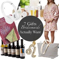 Brides: 7 Bridesmaids Gifts Your Girls Will DIY wedding ideas and tips. DIY wedding decor and flowers. Everything a DIY bride needs to have a fabulous wedding on a budget! Gifts For Wedding Party, Bridal Gifts, Our Wedding, Dream Wedding, Wedding Ideas, Wedding Stuff, Wedding Planning, Party Gifts, Wedding Things