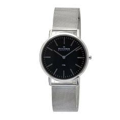 Skagen Men's O18LSSB Quartz Stainless Steel Black Dial Watch Skagen. $46.43. Casual watch. Water-resistant to 30 m (660 feet). Case diameter: 35 mm. Mineral. Quartz movement