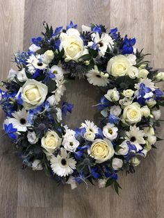 Funeral Wreath delivery to Orpington, petts wood and Surrounding areas. Please call 01689 638414 Funeral Floral Arrangements, Flower Arrangements, Diy Wreath, Wreaths, Funeral Tributes, Memorial Flowers, Hand Tied Bouquet, Diy Projects For Beginners, Flowers Delivered