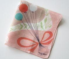 Vintage Handkerchief Mary Blair Balloon Stratosphere.