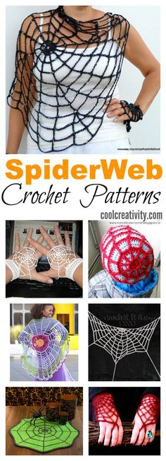 Crochet Blusas Patterns Crochet SpiderWeb Patterns More - Here is a collection of simple and fun Crochet SpiderWeb Patterns that you can use to quickly work up some spiderweb for both costumes and house decoration. Crochet Crafts, Crochet Yarn, Yarn Crafts, Free Crochet, Crochet Scarves, Diy Crafts, Crochet Motifs, Crochet Stitches, Yarn Projects
