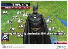 Batman does the weather