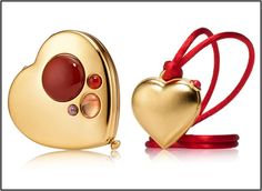 Love-Beautiful solid perfume  Beautiful Love Heart-Beautiful solid perfume Estee Lauder Compacts