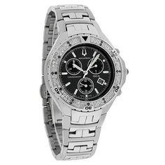 Accutron Men's 26E02 Val d'Isere Diamond Chronograph Watch