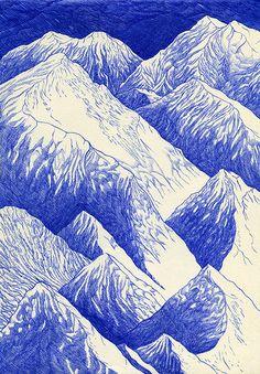 Kevin Lucbert 37 brilliant black & white art tips from leading illustrators - Digital Arts Illustration Design Graphique, Art Et Illustration, Art Graphique, Stylo Art, Art Blanc, Black White Art, Detailed Drawings, Pen Art, Biro Art