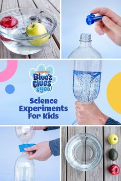 Try these two easy preschool science experiments, as seen on Blue's Clues & You! With only a few household materials, you and your preschooler . Science Experiments For Preschoolers, Science Projects For Kids, Science Activities For Kids, Cool Science Experiments, Preschool Science, Fun Crafts For Kids, Preschool Learning, Science For Kids, Learning Activities