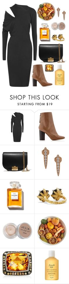 """""""Cutout Shoulder"""" by cherieaustin ❤ liked on Polyvore featuring Vivienne Westwood Anglomania, Isabel Marant, Victoria Beckham, Anita Ko, Gucci, Stila, Pier 1 Imports, Sara Weinstock and Fresh"""