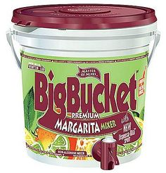 Master Of Mixes Big Bucket Premium Margarita Mixer, 96 Oz Large bucket always ready for a party. Hugly popular mixed drinks