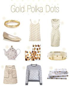 gold polka dot - Google Search