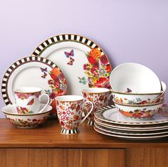 Lenox Dinnerware ~ Melli Mello Eliza Stripe Porcelain Collection | Available Exclusively at Macy's