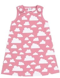Pink Moln Clouds Farg Form Dresses available at Northlight Homestore Gray Dress, Pink Dress, Cotton Clouds, Blue Clouds, Kids Prints, Dress Form, Baby Design, Cute Dresses, Kids Outfits