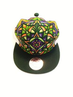 fd1cb279046 26 Best Psychedelic Hand Painted Snap Back Hats images