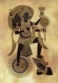 Hindu Gods and Goddesses - Poonam Mistry Religious Paintings, Indian Art Paintings, Tantra, Ganesha, Mother Kali, Greek Mythology Art, African Theme, Lord Vishnu Wallpapers, Madhubani Art