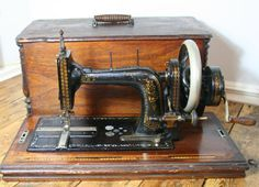 Beautiful antique German sewing machine by theUniqueMagpie on Etsy