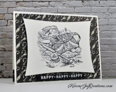 Stampin' Up Angler Masculine Birthday Card with My Favorite Thing Celebrate You Sentiment - Handmade Card