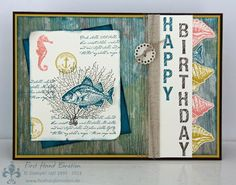 Stampin' UP! by First Hand Emotion: Geburtstagsfisch with By the Tide
