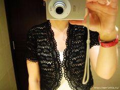 Болеро для весны крючком. Схемы вязания (8) (580x435, 132Kb) Crochet Woman, Pearl Necklace, Pearls, Women, Fashion, String Of Pearls, Moda, Fashion Styles, Beads