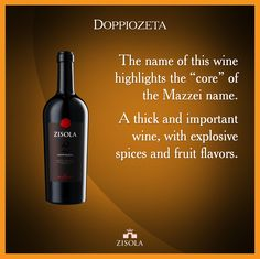 "The name ""Doppiozeta"" highlights the ""core"" of the Mazzei name. A thick and important wine, with explosive spices and fruit flavors. @marchesimazzei #mazzei #zisola  #tuscany #wine"
