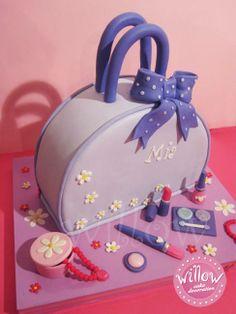 Bag and make up cake