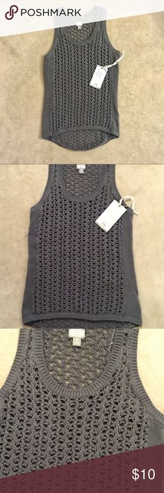 NWT Converse One Star Knit Top Dark grey tank top by Converse One Star! Stylish for summer or with a jacket. My closet has 20% off on 2 or more bundled items! Converse Tops Tank Tops