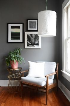 Living Room Paint, Home Living Room, Apartment Color Schemes, Farmhouse Paint Colors, Lets Stay Home, Grey Room, Love Your Home, Dining Room Design, Colorful Interiors