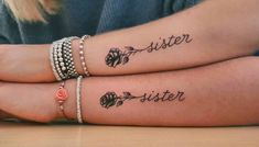 80 Sister Tattoos That Will Melt Your Friggin& Heart - Page 6 of 8 - Straigh. - 80 Sister Tattoos That Will Melt Your Friggin& Heart – Page 6 of 8 – Straight Blasted - Twin Tattoos, Sibling Tattoos, Bff Tattoos, Family Tattoos, Word Tattoos, Small Tattoos, Feather Tattoos, Tatoos, Cute Sister Tattoos