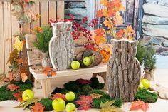 Rustikale #Herbstdeko für den Eingangsbereich von Mon Decor.