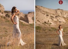 Bridal portraits from real weddings in Santorini Greece. Click the image to see the full collection