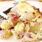 Aardappelsalade met spekjes, augurk en appel - recept - okoko recepten