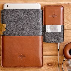 #handwers #ipad #iphone #leather #woolfelt