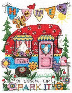 Everything Cross Stitch - Happy Camper
