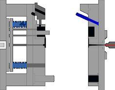 金型アニメーション① Mechanical Design, Mechanical Engineering, Mould Design, Plastic Injection Molding, Bar Chart, Activities, Awesome, Ideas, Engineering