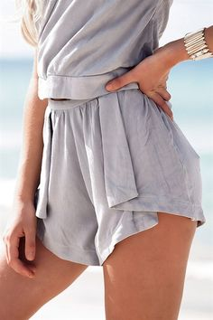 The Eclair shorts have been designed as a high waist style featuring fold-over details at the front with a centre rise on each leg. Made from soft, delicate fabric. Pair with the Eclair Top for a matching look! As worn by Gigi Hadid.By SABO LUXE.