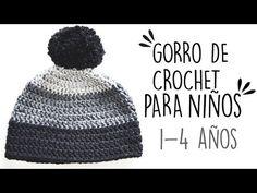 COMO TEJER UN GORRO BÁSICO A LA MEDIDA DESEADA A CROCHET (Paso a Paso) - YouTube