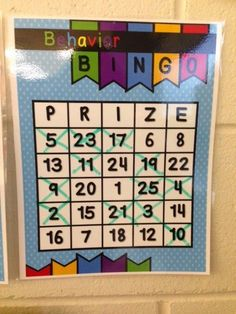You Oughta Know about some Classroom Management tips.  Behavior BINGO works beautifully to get kids to work together for a common goal.