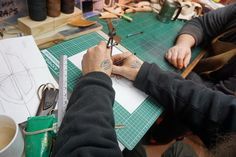 Making the pattern for one of the sheaths