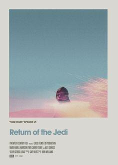 Retro Cinema Poster: Return of the Jedi Art Print