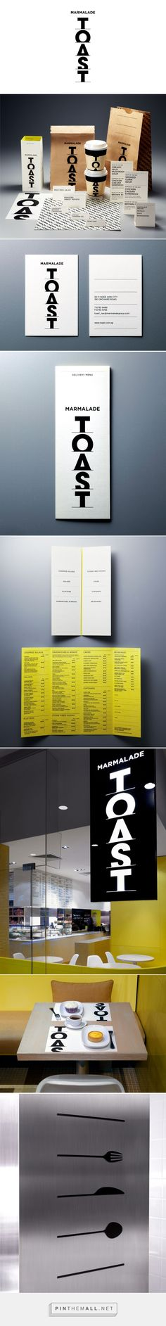 """&Larry packaging branding for the upmarket gourmet café previously known as """"Toast"""" curated by Packaging Diva PD. Definitely makes me want to go there."""