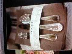 Napkins and menu