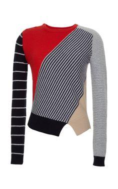 Color-Blocked Wool-Blend Knit Sweater by Carven - Moda Operandi