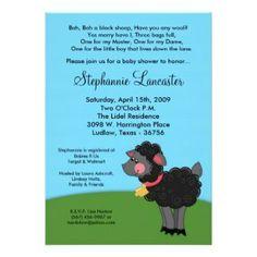 Sheep Baby Shower Invitations New Bah Black Sheep Nursery Baby Shower Invitation Baby Shower Invitation Wording, Baby Shower Invites For Girl, Invitation Ideas, Invitation Design, Sheep Nursery, Snowflake Baby Shower, Rubber Ducky Baby Shower, Simple Baby Shower, Black Sheep