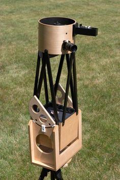 "Jeff Albro's 6"" AutoCAD designed Dob Scope, featuring maple plywood construction and a retractable light shied for the upper assembly. - #Dobsonian #Telescopes"