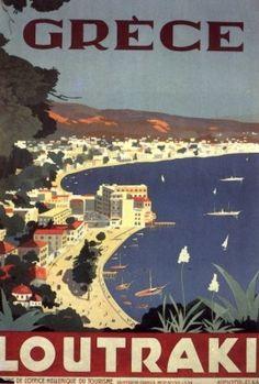 GRECE. LOUTRAKI. 1930 ~ 1939. Αφίσα του ΕΟΤ.