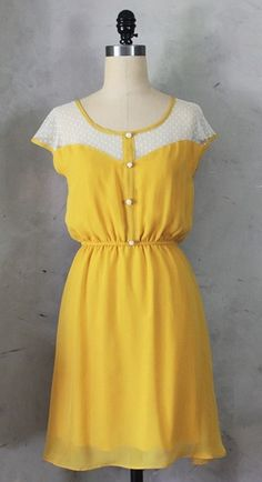 Petit Dejeuner Dress Mustard